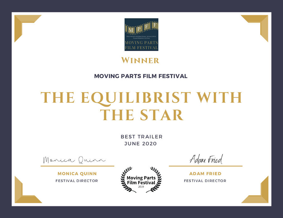 BEST TRAILER Moving Parts Film Festival 2020 CERTIFICATE